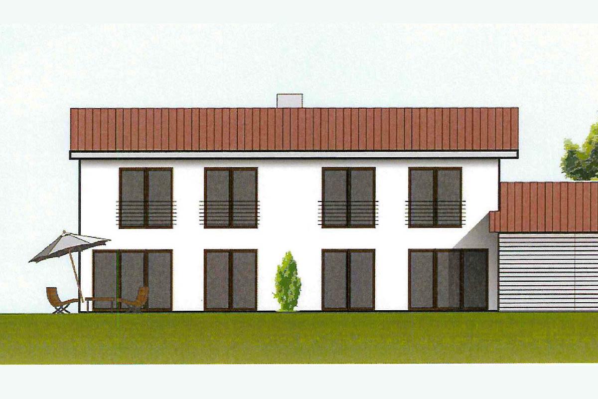 Neubau von 4 Doppelhaushälften