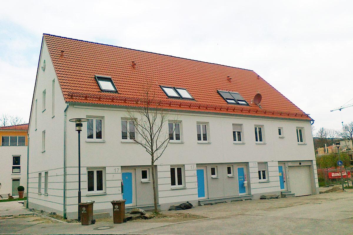 Mindelheim, Am Mühlenpark 1 – 4 / Hermelestr. 17 - 19