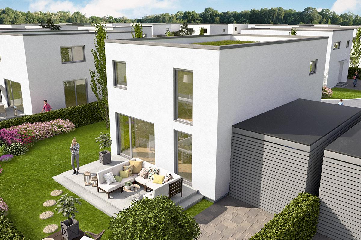 Memmingen, Neubau von 38 Einfamilienhäusern